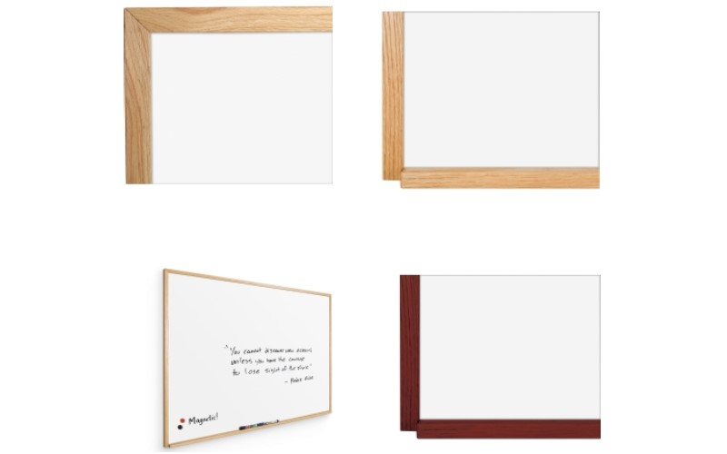 wood framed whiteboard