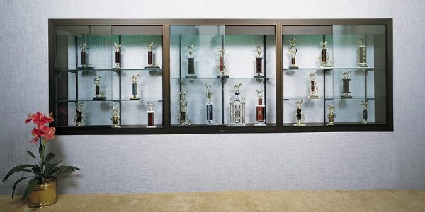 recessed trophy case
