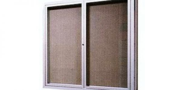 recess cabinet and bulletin board