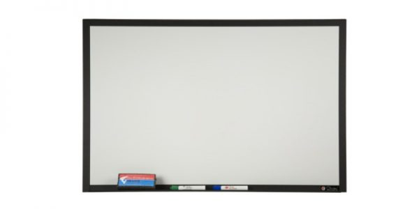 whiteboard trimmed in black