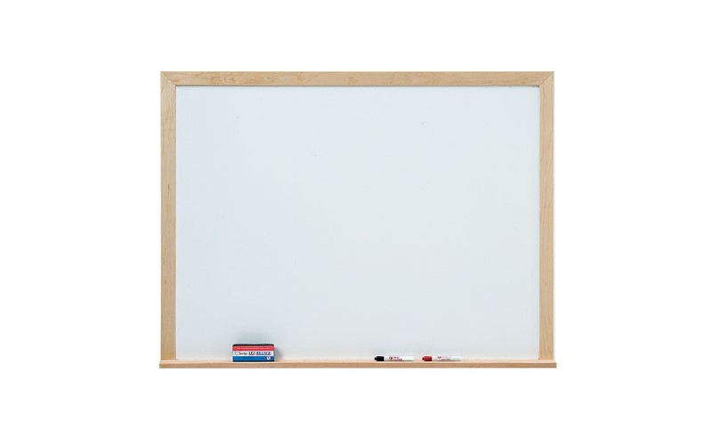 wood framed whiteboard, marker board