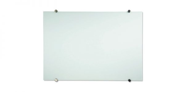 Visual Display Communication Products - magnetic glass markerboard with stand off mounting