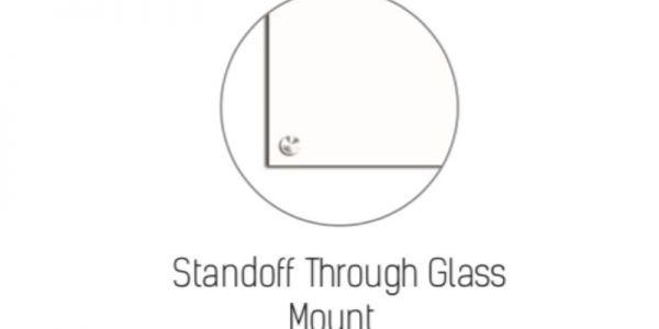 glass board with standoff