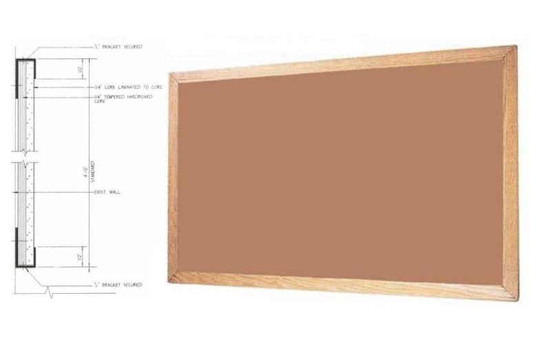 wood framed tackboard